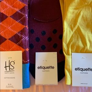 Happy Socks etiquette high quality fun mens socks